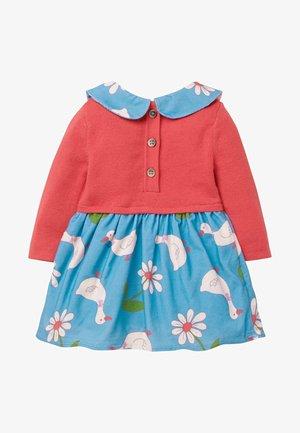 MIT KRAGEN - Jumper dress - baby blue daisy duck