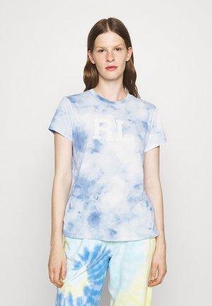 SHORT SLEEVE - T-shirt con stampa - bleached indigo