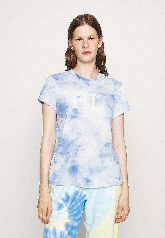 SHORT SLEEVE - Print T-shirt - bleached indigo
