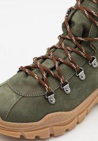 Emporio Armani - XYZ003 - Lace-up ankle boots - KHAKI - 5