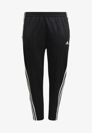 ADIDAS SPORTSWEAR WRAPPED 3-STRIPES SNAP PANTS (PLUS SIZE) - Verryttelyhousut - black