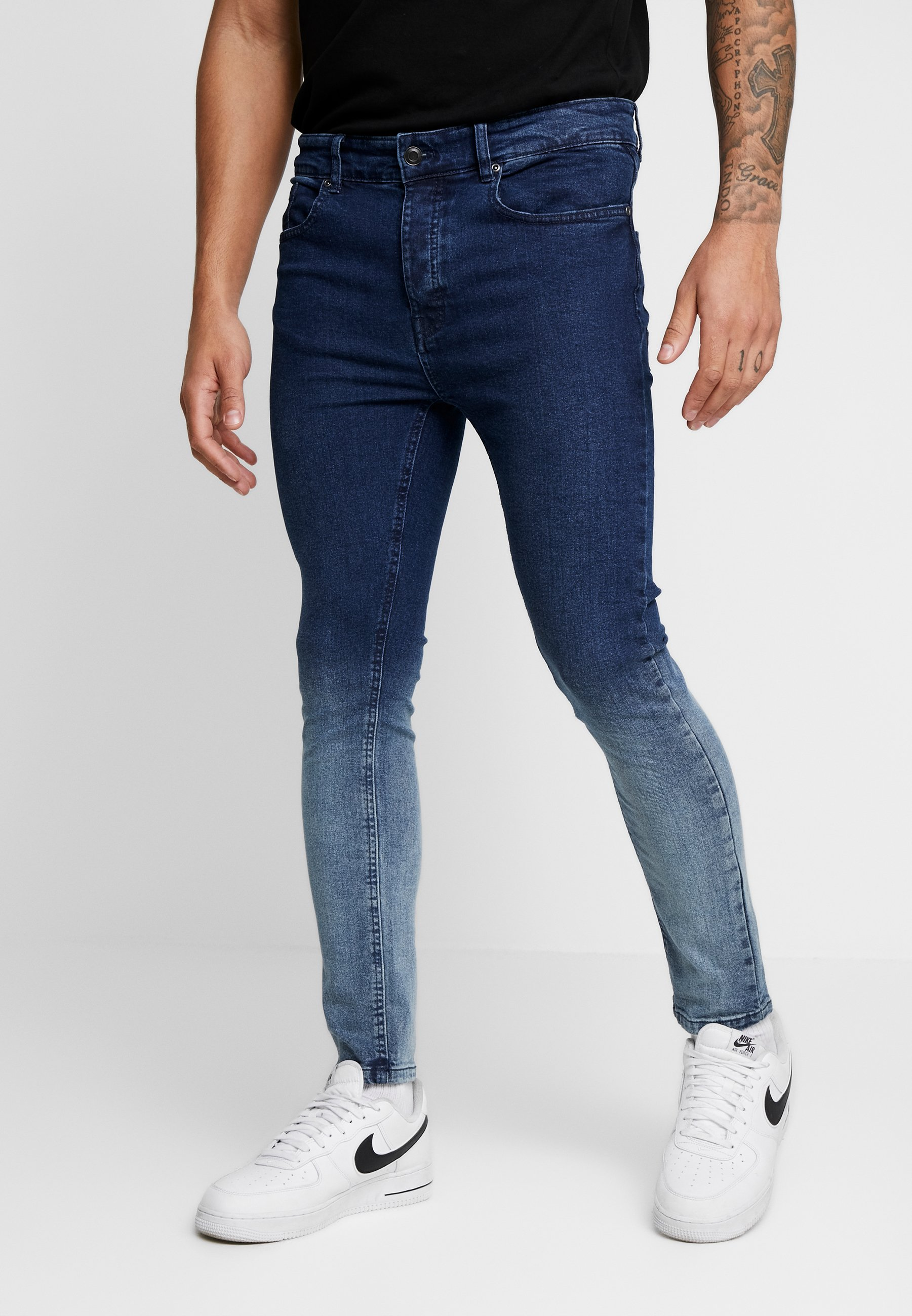 Brave Soul CLARK - Jeans Skinny Fit - grey dip dye