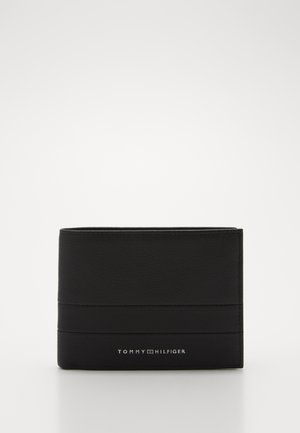INTARSIA AND COIN - Wallet - black