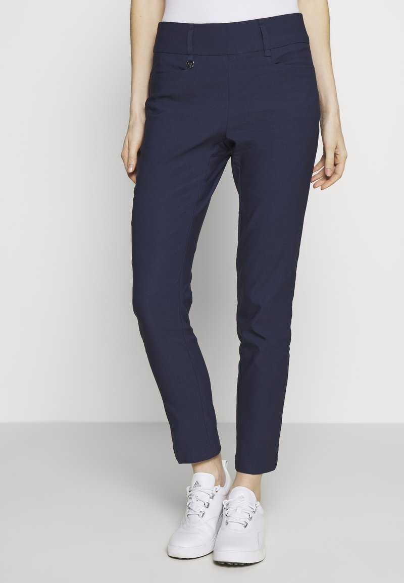 Callaway - CHEV PULL ON TROUSER - Trousers - peacoat