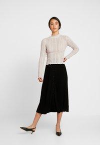 Forever New - PLEATED SKIRT - A-line skirt - black - 1