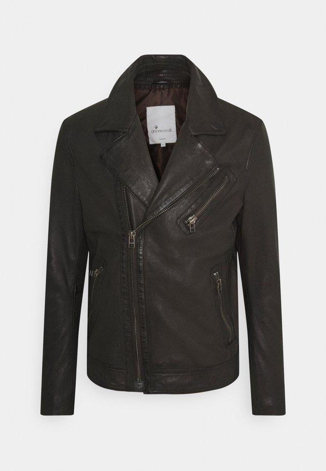 GC TRISTAN BIKER - Leather jacket - comet