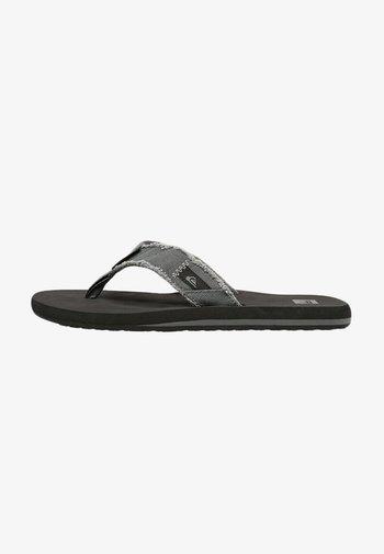 MONKEY ABYSS - T-bar sandals - grey/black/brown