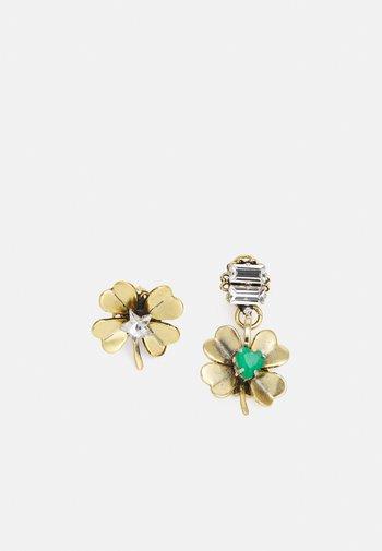 Earrings - green/gold-coloured
