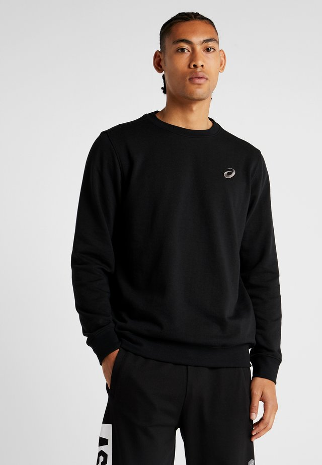 CHEST LOGO CREW - Felpa - performance black