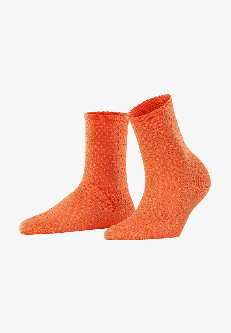 FALKE - POINTELLE - Socks - coral rose