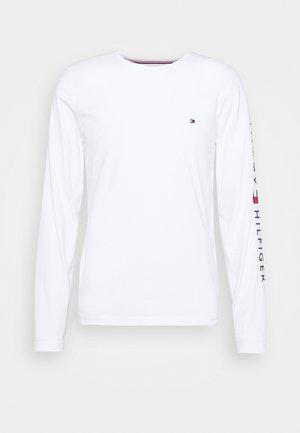 LOGO LONG SLEEVE TEE - T-shirt à manches longues - white