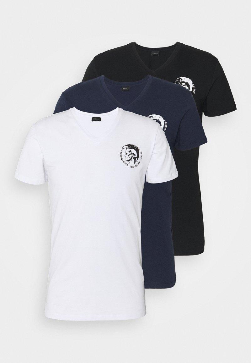 Diesel - UMTEE MICHAEL 3 PACK - Print T-shirt - white/blue/black