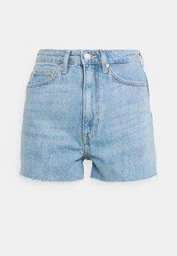 Weekday - ROWE - Denim shorts - blue moise - 4