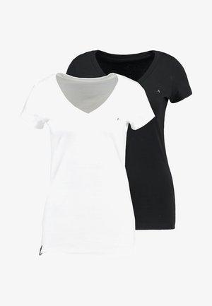 2 PACK - Basic T-shirt - white/black
