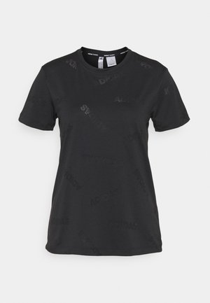 TEE - Sports shirt - black/white