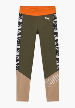PUMA X ZALANDO GIRLS - Leggings - olive night
