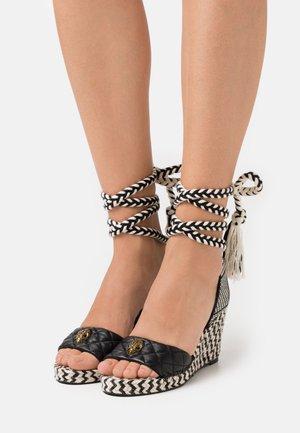 MILA WEDGE - Sandały na platformie - black