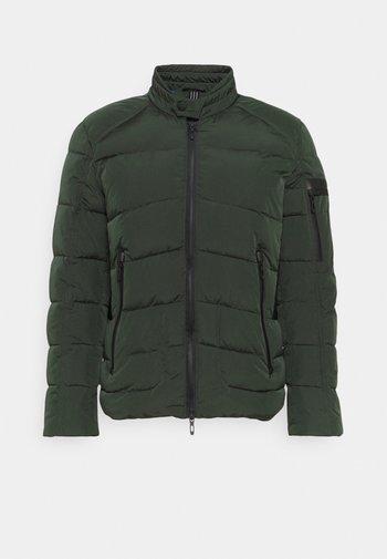 COAT IN TECHNO FABRIC CONTRAST IN COMPOUNDNYLON - Light jacket - bottle green
