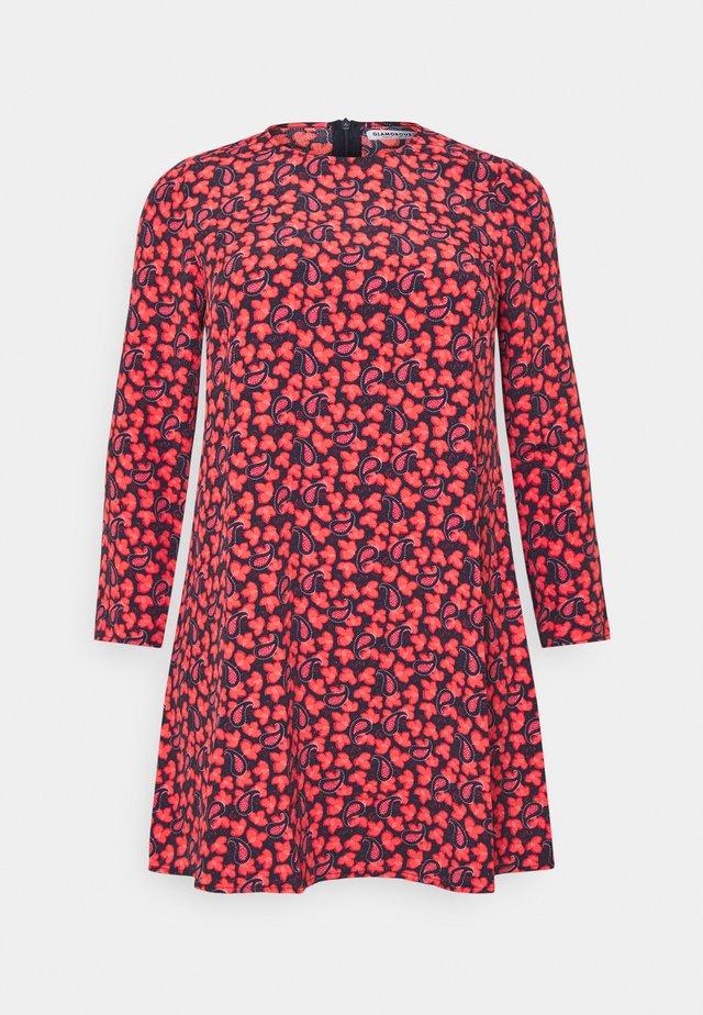 DRESS - Korte jurk - black/red