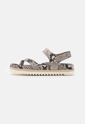 BIO - T-bar sandals - natural