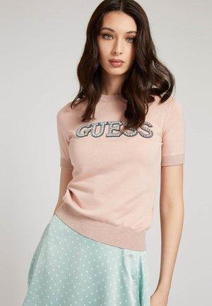 STRASS - T-shirt imprimé - hellrose