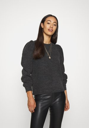JDYAMAZA VOLUME TOP  - Strikpullover /Striktrøjer - dark grey melange