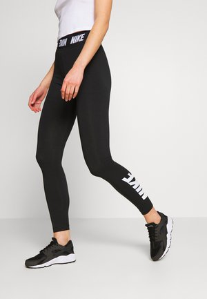 CLUB  - Legginsy - black/white
