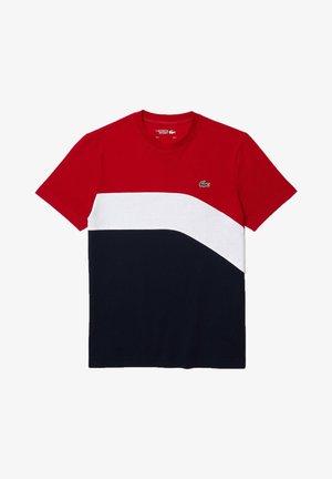 Print T-shirt - rouge  blanc  bleu marine