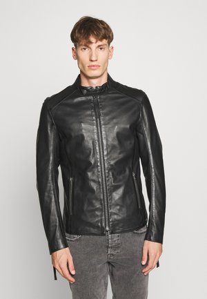 DENZEL - Leather jacket - black