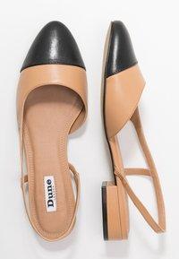 Dune London - CORALLINA - Slingback ballet pumps - camel - 3