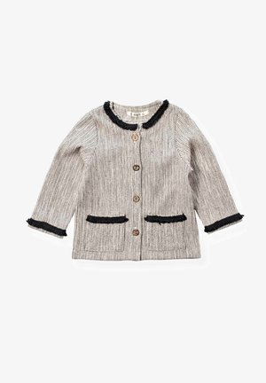 Tassel Ribbon Detailed Cardigan (2 to 7 years) - Vest - beige anthracite striped