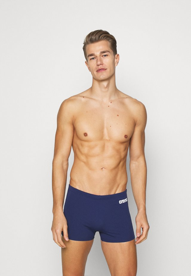 SOLID - Swimming trunks - navy/white