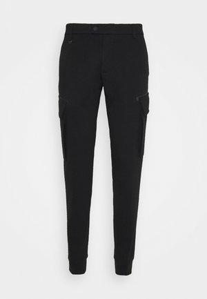 TROUSERS NIKKI SKINNY FIT STRETCH - Cargo trousers - black