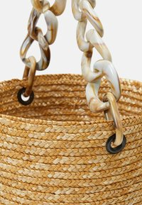 Hermina Athens - BASKET BROCADE MARBLE CHAIN - Kabelka - natural/green - 6