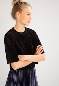 Urban Classics - SHORT KIMONO - T-shirt basic - black - 0