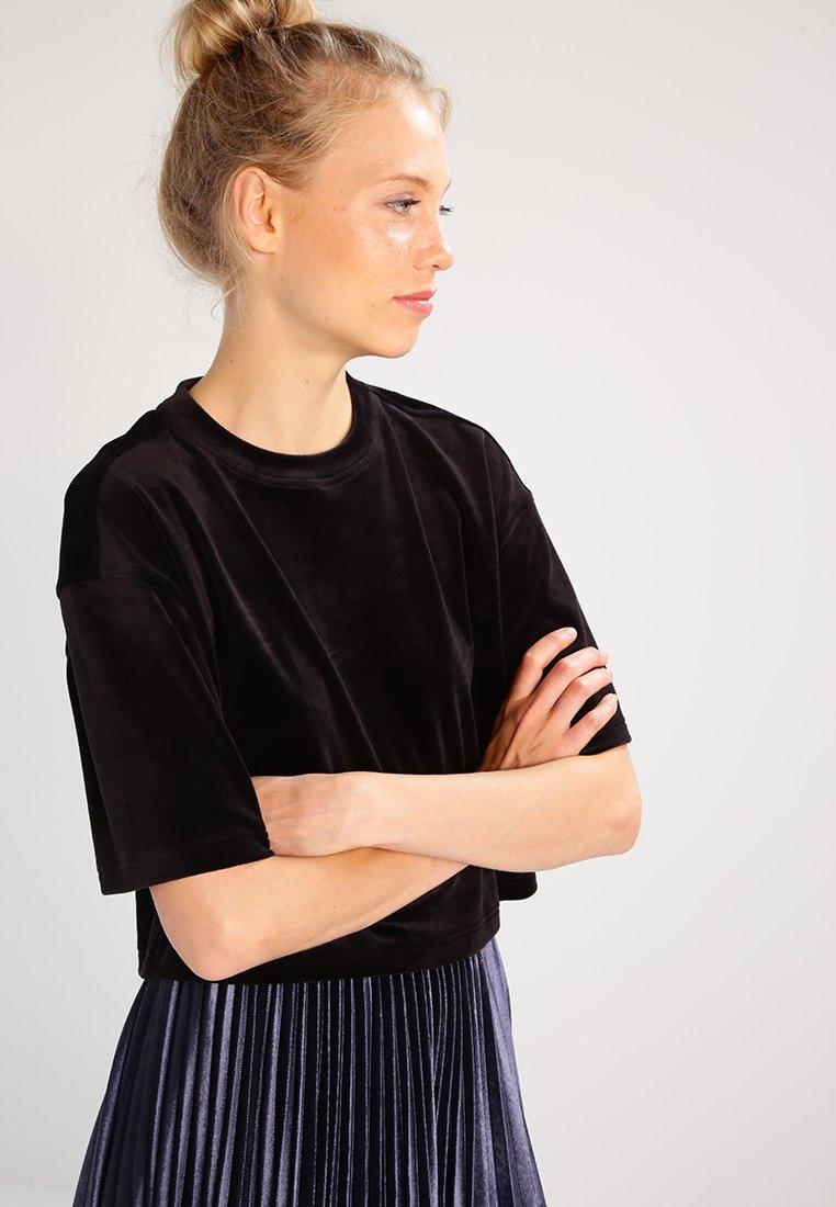 Urban Classics - SHORT KIMONO - T-shirt basic - black