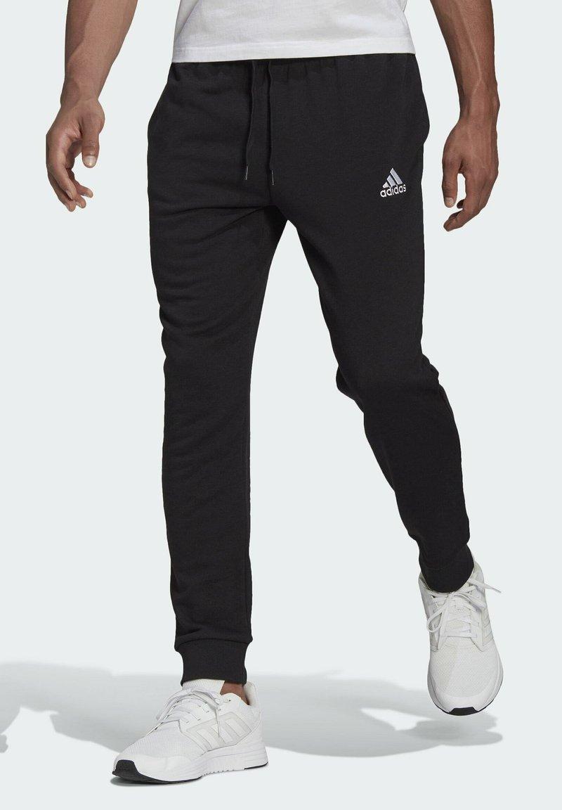adidas Performance - SL ESSENTIALS SPORTS FRENCH TERRY PANTS - Pantaloni sportivi - black