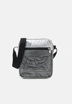 CROSSBODY UNISEX - Across body bag - silver/black
