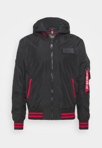 HOOD DEFENSE - Summer jacket - black