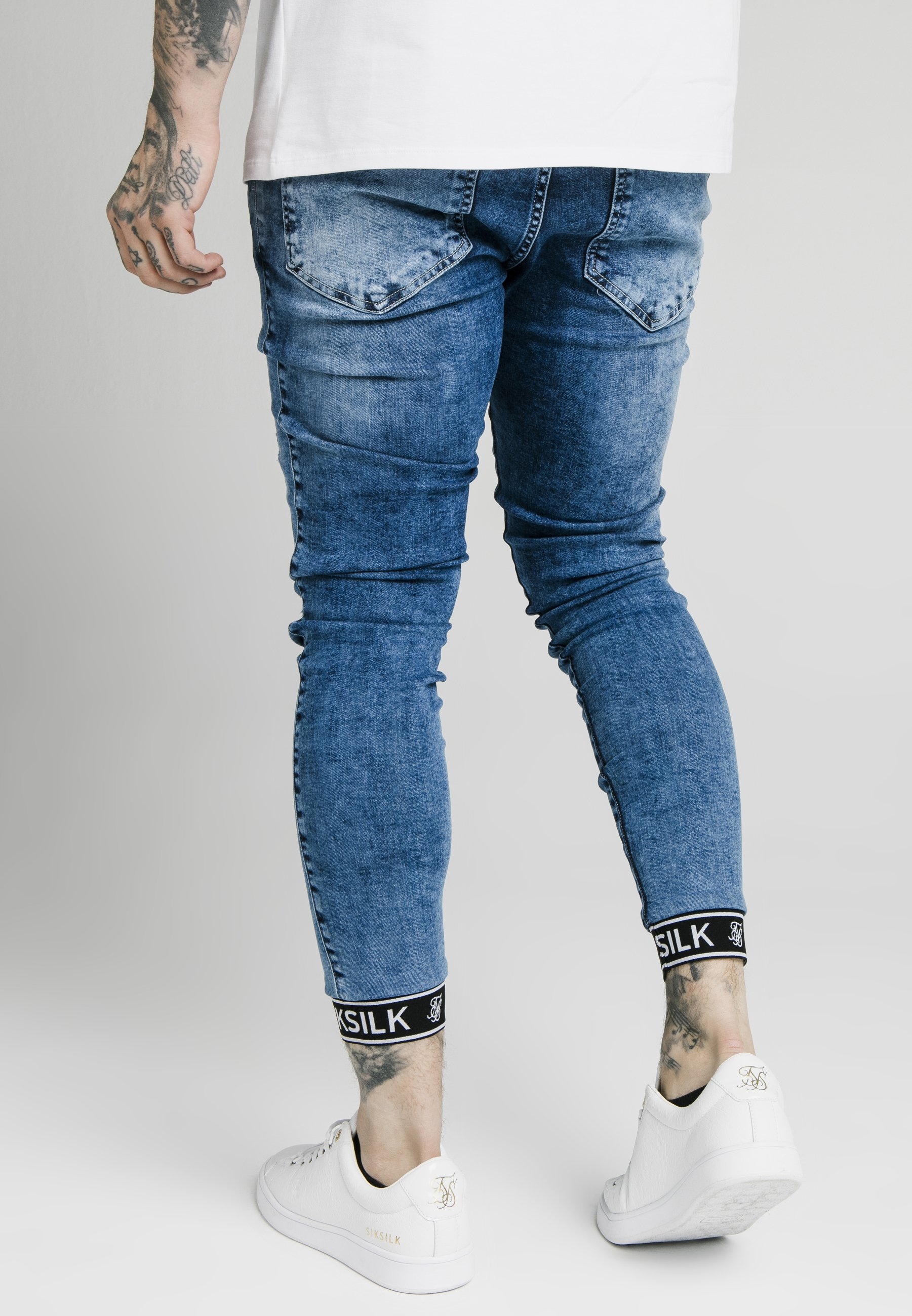 Reliable Fast Express Men's Clothing SIKSILK SKINNY CUFFED JEANS Jeans Skinny Fit blue AJ3HdGO3X cdxxo5YYP