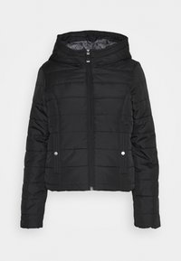 Vero Moda - VMSIMONE HOODY SHORT JACKET - Light jacket - black - 0