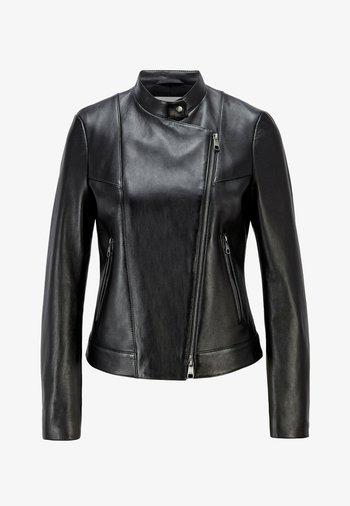 SAMAKI - Leather jacket - black