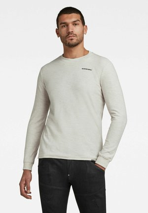 TEXTURED STITCH TWEATER - Långärmad tröja - off white