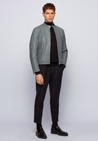 BOSS - MUBA - Leather jacket - grey - 1