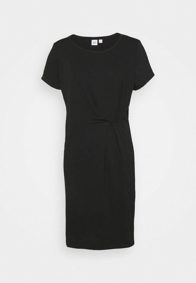 PLEAT WAIST - Sukienka letnia - true black