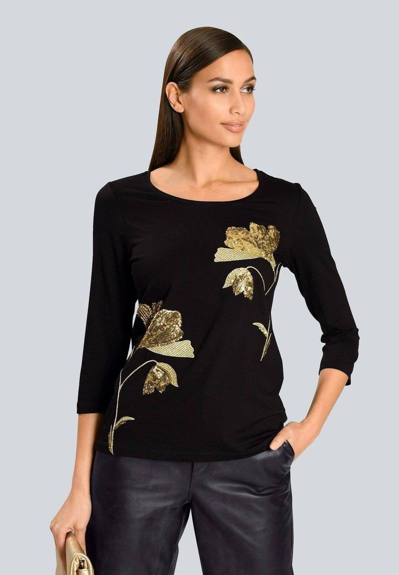 Alba Moda - Long sleeved top - schwarz beige