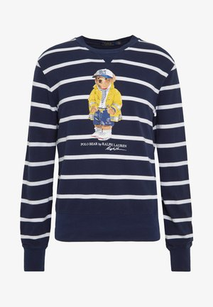 BASIC  - Sweatshirt - cruise navy/white