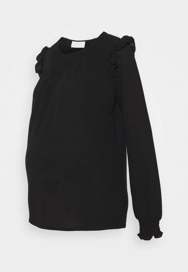 MLENISE  - Top sdlouhým rukávem - black