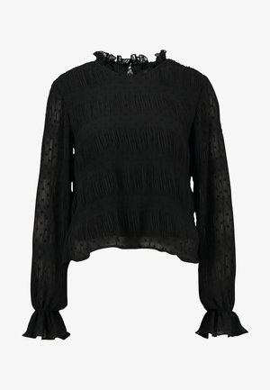 RUCHED BLOUSE - Blouse - black