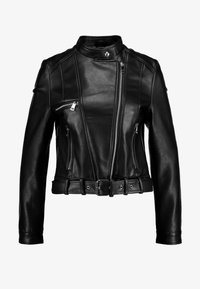 Vero Moda - VMEILEEN SHORT COATED JACKET - Faux leather jacket - black - 5